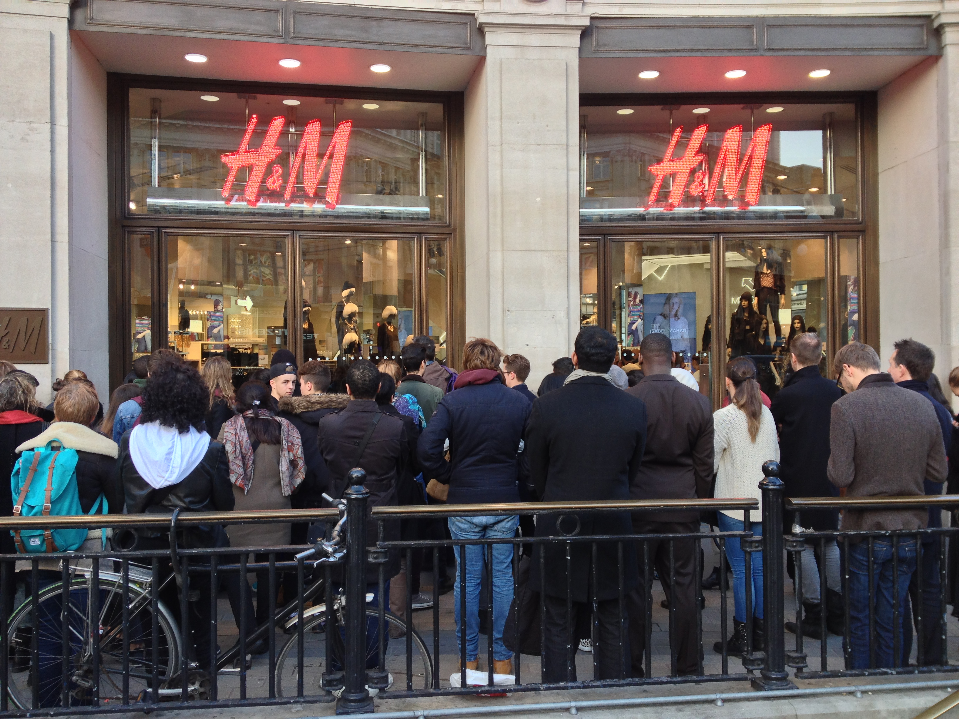 shoppers flood to h m today for limited isabel marant collection